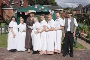 Auden House staff all dressed up to commemorate the start of WW1
